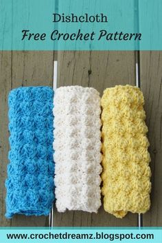 Dishcloth or Washcloth Crochet Pattern, Free Crochet Pattern