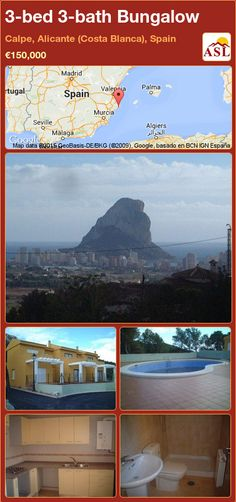 Bungalow for Sale in Calpe, Alicante (Costa Blanca), Spain with 3 bedrooms, 3 bathrooms - A Spanish Life Murcia, Calpe Alicante, Bungalows For Sale, Residential Complex, Master Room, Storage Room, Ground Floor, Terrace, Spanish