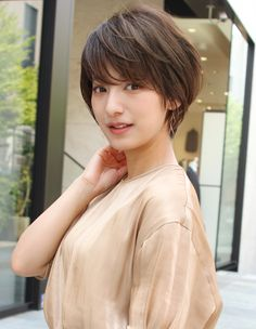 Popular Short Haircuts 2018 – 2019 - Love this Hair Japanese Short Hair, Asian Short Hair, Girl Short Hair, Short Hair Cuts, Short Girls, Cute Bob Hairstyles, Short Hairstyles For Women, Girl Hairstyles, Shot Hair Styles