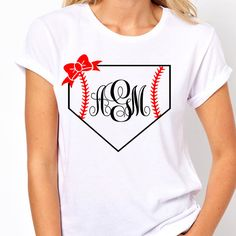 Monogram baseball tee trendy shirts womens by LineLiamBoutique
