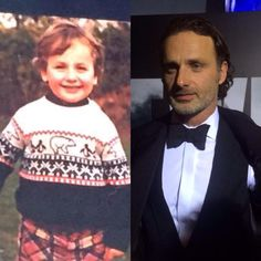 AWWEEE LOOK AT HIIIIMM..<< obviously bae became even more cute with age Walking Dead Tv Show, Walking Dead Series, Bold And The Beautiful, Gorgeous Men, Gael Anderson, Andy Lincoln, Sad Day, Stuff And Thangs, Rick Grimes