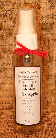 JUICY APPLE Dry Oil Moisturizing Body by DragonflyMoonLotions, $5.00
