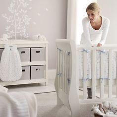 Gorgeous sleigh-style cot bed to last baby from birth until 6yrs old. With two base heights for newborns and older babies. Later, remove cot sides to create a first bed. Add a high quality cot-bed mattress.