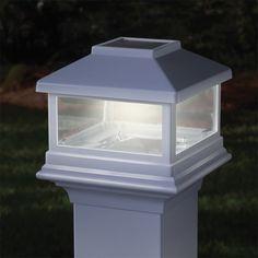 Solar Post Cap - Deckorator White Harbor for Vinyl or Metal Post $49