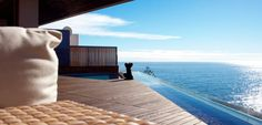 The magnificent ocean view from the balcony at Ellerman Villa Cape Town Accommodation, Luxury Accommodation, Luxury Holidays, Mountain View, City Lights, Sun Lounger, Terrace, Villa, City Apartments
