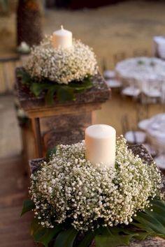 Centros de mesa artesanales con frascos, botellas, troncos, latas, velas y flores: Centros de mesa para bautismo,comunión, cumpleaños de 15, casamientos | Manualidades y Reciclados