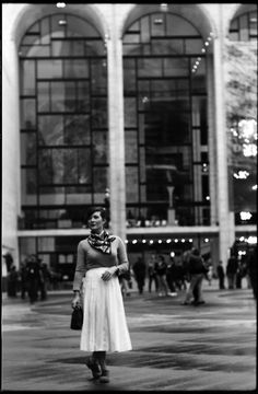 Lincoln Center after the rain in the middle of Fashion Week