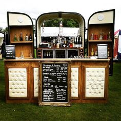 Who wouldn& want this gorgeously pimped trailer rocking up at their summer party? We chat to Will Spiers to find out more about his new bar Bagdad Cafe, Foodtrucks Ideas, Horse Box Conversion, Coffee Food Truck, Prosecco Van, Mobile Cafe, Coffee Van, Food Vans, Portable Bar