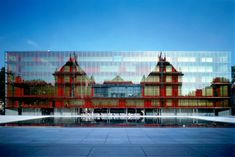 /Ibos Vitart - Museum of Fine Arts, Lille, France. Architecture Drawings, Contemporary Architecture, Architecture Design, Building Museum, Building Facade, Architecture Extension, Grand Prix, Glass Facades, Le Palais