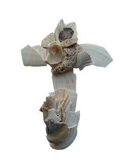 Religious wall cross created from natural seashells high wide Catholic Confirmation Gifts, Catholic Art, Wall Crosses, Orange Beach, Crucifix, Seashells, Sculpting, Lion Sculpture, Wall Decor