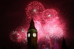 Fireworks light up the London skyline and the Elizabeth Tower, commonly known as Big Ben, just after midnight on January 2013 Picture: Peter Macdiarmid/Getty Images London Fireworks, New Years Eve Fireworks, Celebration Around The World, New Year Celebration, Disney Movie Rewards, Bonfire Night, Monthly Themes, London Skyline, The 5th Of November