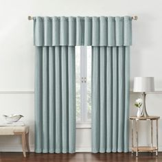 Rockwell Room-Darkening Window Curtain Panel and Valance - www.BedBathandBeyond.com
