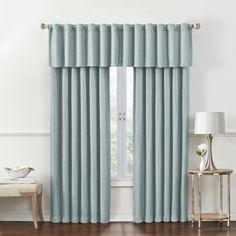 Rockwell Room-Darkening Window Curtain Panel and Valance - www.BedBathandBeyond.com