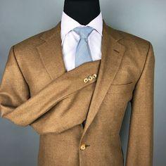 JOHN W. NORDSTROM Loro Piana 100% Cashmere Golden Brown Blazer 44L Canada
