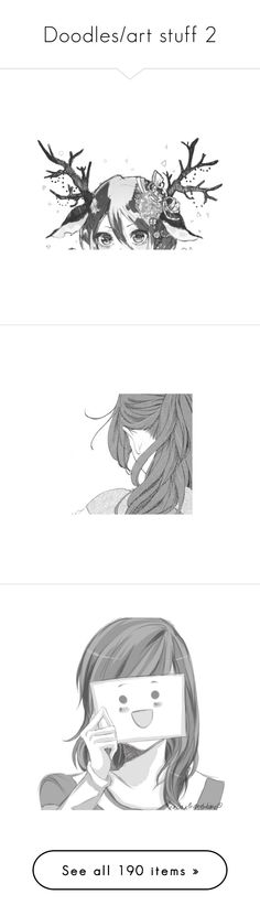 """""""Doodles/art stuff 2"""" by muchband ❤ liked on Polyvore featuring anime, fillers, effects, manga, backgrounds, anime girls, art, doodle, filler and scribble"""