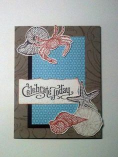 Seashore Celebration by Gosia Hoot - Cards and Paper Crafts at Splitcoaststampers