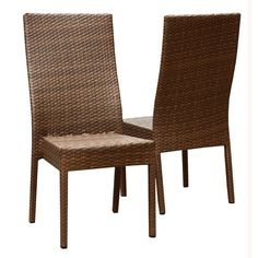 Abbyson Living Set Of Two Ventella Outdoor Wicker Dining Chairs Wicker Patio Chairs, Patio Rocking Chairs, Outdoor Dining Chairs, Dining Chair Set, Side Chairs, Dining Room, Layout, Design, Palermo