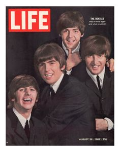 The Beatles, Ringo Starr, George Harrison, Paul Mccartney and John Lennon, August 1964 Cover of Life Magazine Ringo Starr, George Harrison, Paul Mccartney, John Lennon, Life Magazine, Magazine Rack, Pop Rock, Rock And Roll, Historia Do Rock