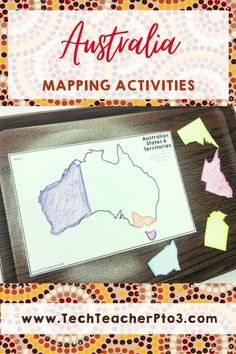 This mapping pack will help your students understand what the Australian states and territories are and where the capitals are. Students can use the hands-on activities to map Australia's climate, position in the Southern Hemisphere and location in the world. Beautiful slides will guide students through each section and will save you time with your Geography lesson plan. #techteacherpto3 #socialstudies #geography #australia #map Geography Lesson Plans, Teaching Geography, Australia Capital, Australia Map, Map Activities, Hands On Activities, Primary School Curriculum, Unit Plan, Australian Curriculum
