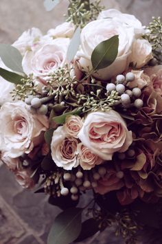Romantic and Vintage Bridal Bouquet @botanystudio