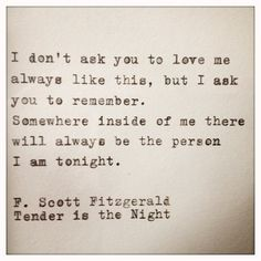 F. Scott Fitzgerald, Tender is the Night #quote