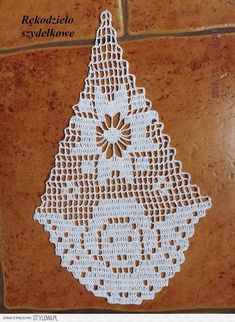 Filet crochet angel...