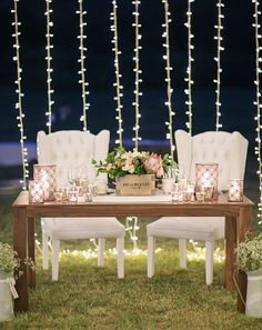 Love this sweetheart table with twinkle light backdrop - one detail from this pastel festival style wedding (Jack & Jane Photography) Sweetheart Table Decor, Lodge Wedding, Wedding Rustic, Trendy Wedding, Summer Wedding, Luxury Wedding, Wedding Reception Decorations, Reception Ideas, Wedding Ideas
