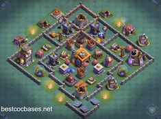 17 Builder Hall 7 Base Layouts Ideas Builder Hall Clash Of Clans