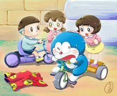 Doraemon Color Wallpaper Iphone, Love Wallpaper, Colorful Wallpaper, Doremon Cartoon, Doraemon Wallpapers, Anime Fnaf, Cute Little Girls, Smurfs, Hello Kitty