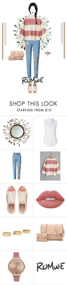 """""""Fall Colours Style #3 : Dusty Rose and Latte Cream"""" by nello-hope on Polyvore featuring Thom Browne, Dune, Loren Stewart, Olivia Burton and romwe"""