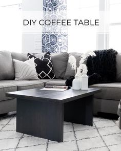 $30 DIY Coffee Table Plans Diy Furniture Tutorials, Diy Furniture Plans, Ikea Furniture, Diy Coffee Table Plans, Modern Coffee Tables, Kitchen Island Furniture, Hanging Wine Glass Rack, Builder Grade Kitchen, Wooden Diy