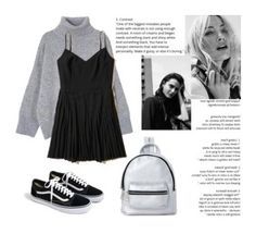 """""""gray&black"""" by llemia ❤ liked on Polyvore featuring Hollister Co., J.Crew and Madden Girl"""