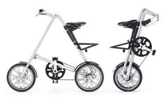 The first Strida Folding Bike (1987) was invented when Mark Sanders wanted to address his difficult commute into London with an elegant, clean and portable solution.