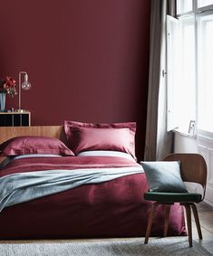 ideas wall color bedroom red for 2019 Room Colors, Bedroom Colors, Burgundy Bedroom, Bed, Burgundy Room, Bedroom Design, Home Decor, Bedroom Red, Small Bedroom