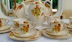 Vintage Grindley bone china coffee set Cream by Mercysemporium
