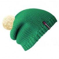 Beanie No.1 - Mützenfarbe Smaragd - Bommelfarbe Creme