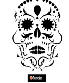 Looking for free pumpkin patterns. You can find easy, free, difficult, scary and fun pumpkin patterns and stencils. Sugar Skull Pumpkin Stencil, Halloween Pumpkin Stencils, Sugar Skull Art, Sugar Skulls, Halloween Projects, Halloween Pumpkins, Halloween Crafts, Halloween Stuff, Halloween Ideas