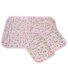 MyKazoe Waterproof Bassinet Pad & Lap Pads - Set of 3 (Pink Owl) $17.99