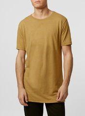 Mustard Slubby Long Line T-Shirt