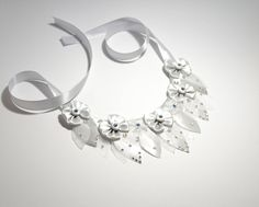 Ice collection fantasy collar necklace with Swarovski crystals