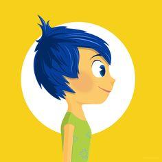 Official Pixar illustration work in collaboration with Poster Posse for Inside Out. Joy Inside Out, Disney Inside Out, Disney Fan Art, Disney Pixar, Disney Characters, Inside Out Poster, Disney Illustration, Joy Art, Vanellope