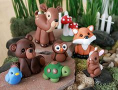 Forest Animals Cake Toppers Animal Cake Topper by GnomeWoods