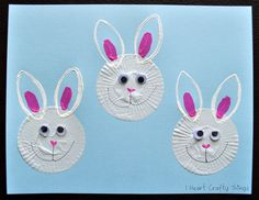Cupcake Liner Bunnies - - pinned by @PediaStaff – Please Visit  ht.ly/63sNt for all our pediatric therapy pins