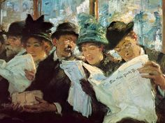 It's About Time: Readers & crowds by Francis Luis Mora Uruguayan-born American painter, 1874-1940