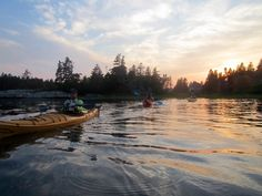 Sunset in the LaHave Islands, South Shore kayaking