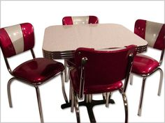 retro kitchen chairs and tables photo - 4
