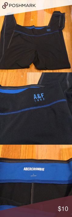Abercrombie   Fitch workout leggings Size large excellent condition no  holes or stains. Zippers at 709f8a2b12a