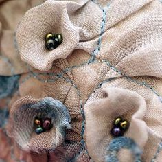 Fabric Manipulation - dimensional surface creation and stitch detail #textiles