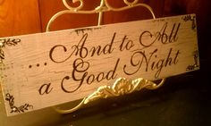 """Vintage HOLIDAY Sign with PEARLS, RUSTIC Christmas Sign  """"Twas the Night Before Christmas"""". $42.00, via Etsy."""