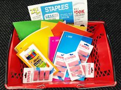 Staples Back-to-School Haul: 12 Items for $2.76 ($16.96 Value)!